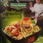 Spaghetti au pesto et poulet