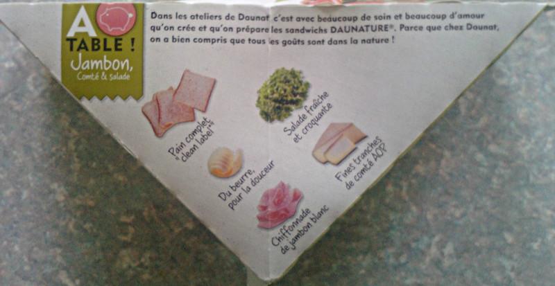 Daunature Jambon Comté